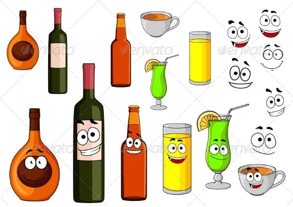 GraphicRiver Cartoon Beverages 8216302