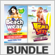 Summer Party Flyers Bundle 3 - GraphicRiver Item for Sale