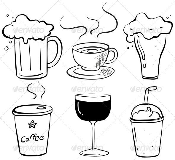 GraphicRiver Drink Doodles 8216389