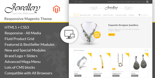 01 themepreview.  large preview - Jewellery - Magento Responsive Template
