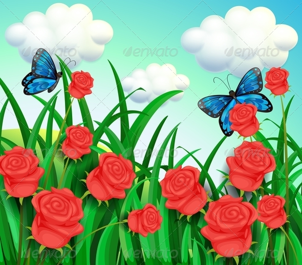 GraphicRiver Butterflies in the Garden 8216444