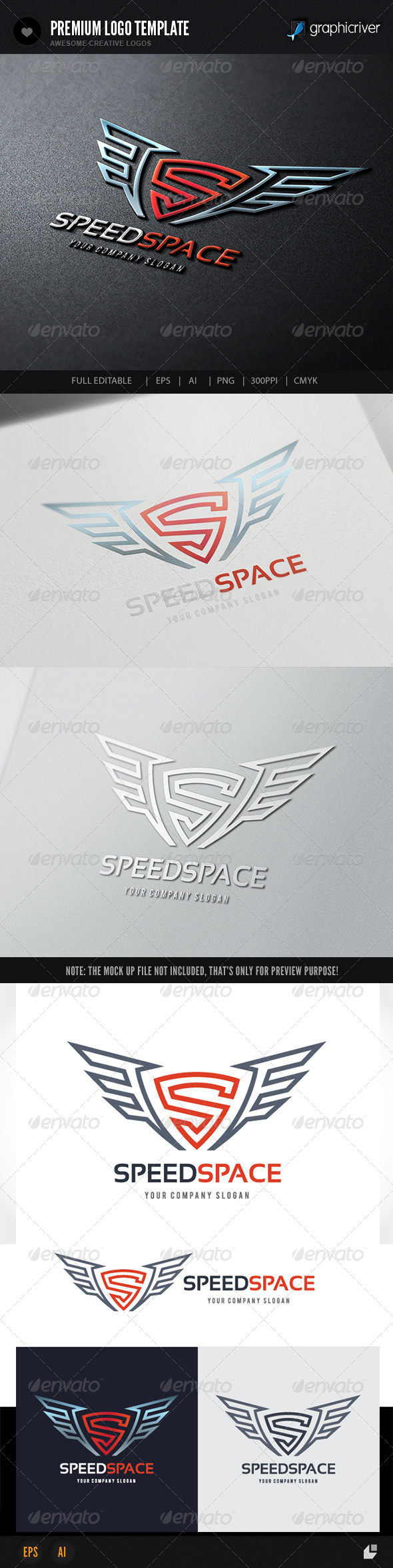 GraphicRiver Speed Space Logo 8216478