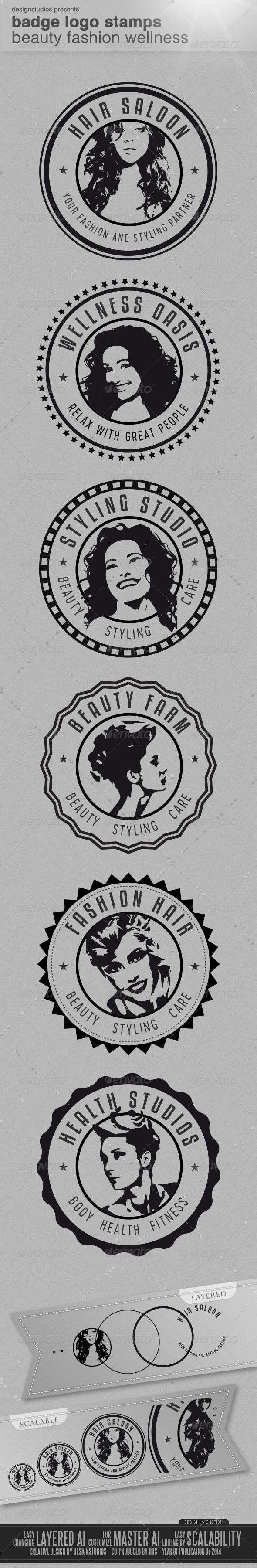 GraphicRiver Badge Logo Stamps Beauty Fashion Wellness 8206746