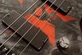 Steampunk bass guitar detail 3 - PhotoDune Item for Sale