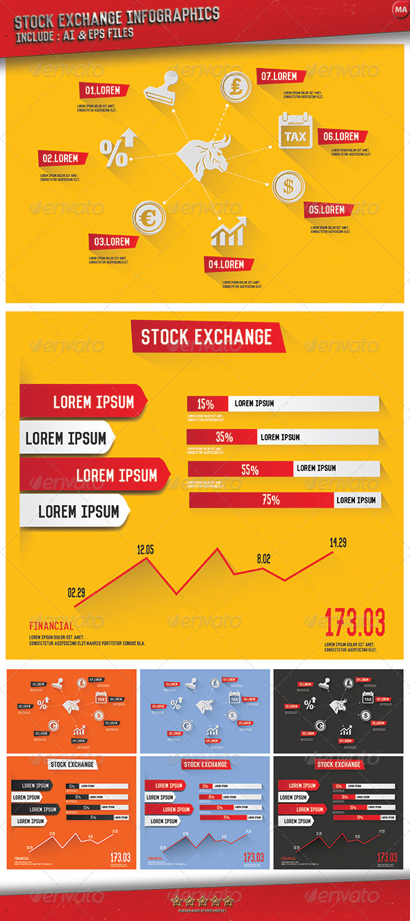 GraphicRiver Financial Infographics 3 Version 8184030