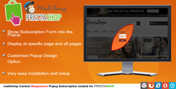 CodeCanyon Prestashop Mailchimp Subscription 8216650