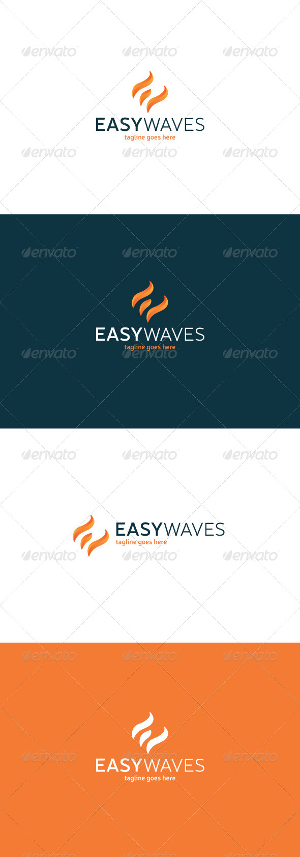 GraphicRiver Easy Waves Logo Letter E 8216737