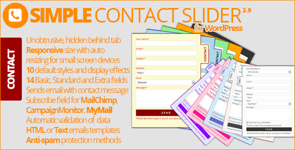 Simple Contact Slider - CodeCanyon Item for Sale