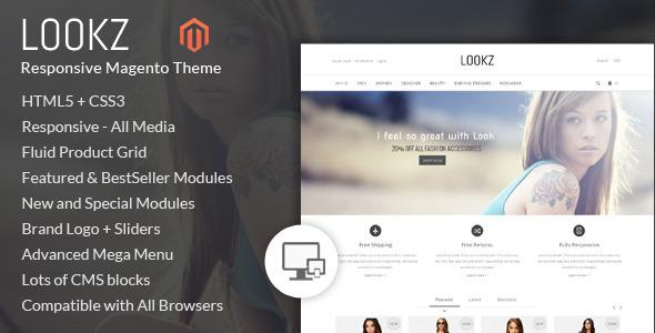 Lookz - Magento Parallax Template - Magento eCommerce