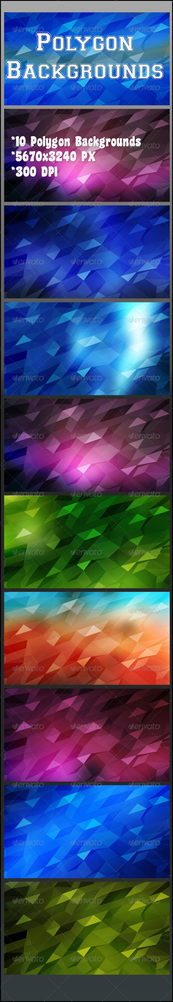 GraphicRiver Polygon Backgrounds 8216809