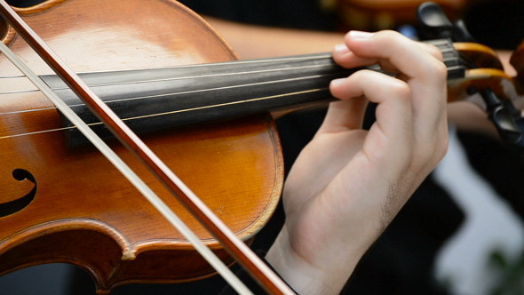 VideoHive Playing Violin on a Concert 8216828