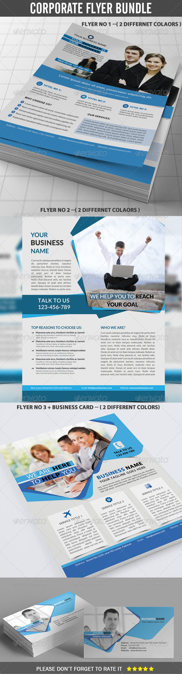 GraphicRiver Corporate Flyer Bundle 8216857