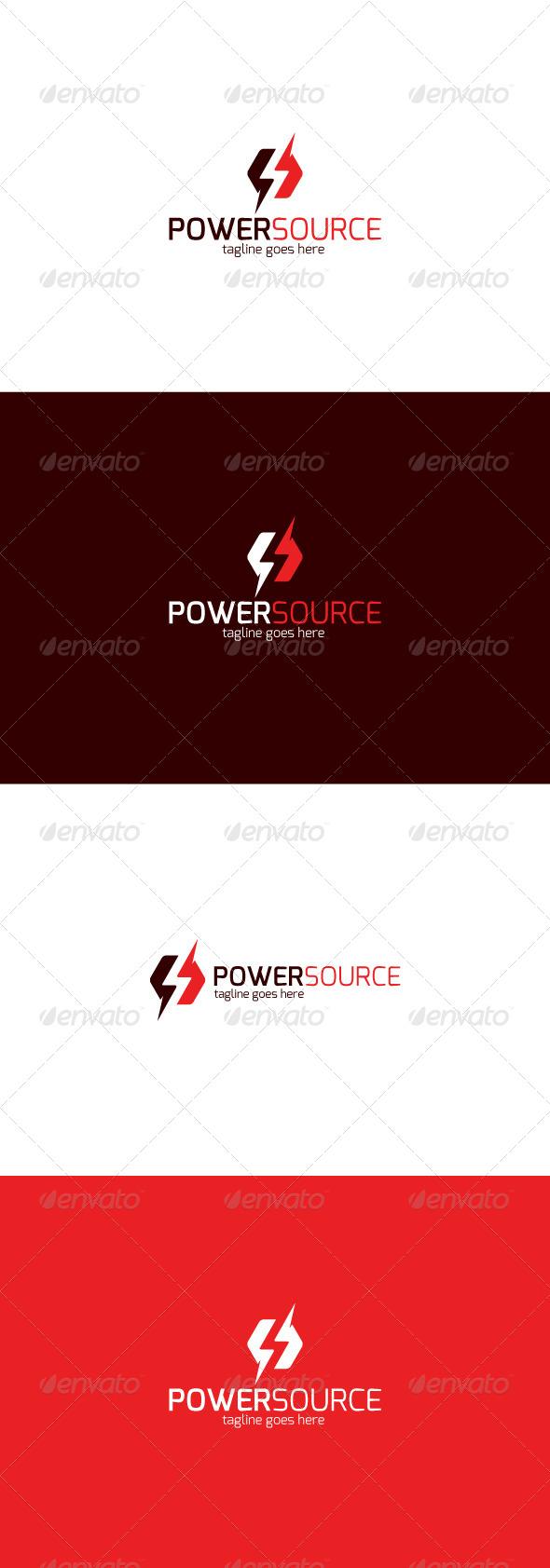 GraphicRiver Power Source Logo 8216871