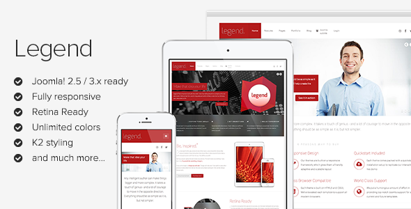 Legend - Responsive Joomla Template - Corporate Joomla