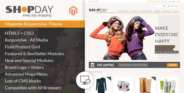 Shopday - Magento Responsive Theme - Shopping Magento