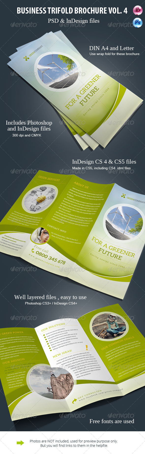 GraphicRiver Business Trifold Brochure Wave 8216938