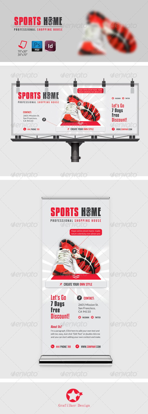 GraphicRiver Sports Billboard Roll-Up Templates 8202949