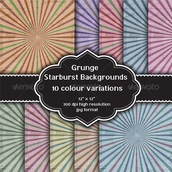 Grunge Starburst Backgrounds