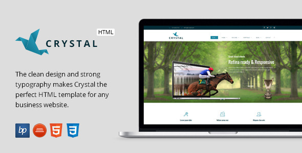 Crystal Responsive Business HTML5 Template