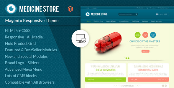 Medicine - Pharmacy Magento Theme - Health & Beauty Magento