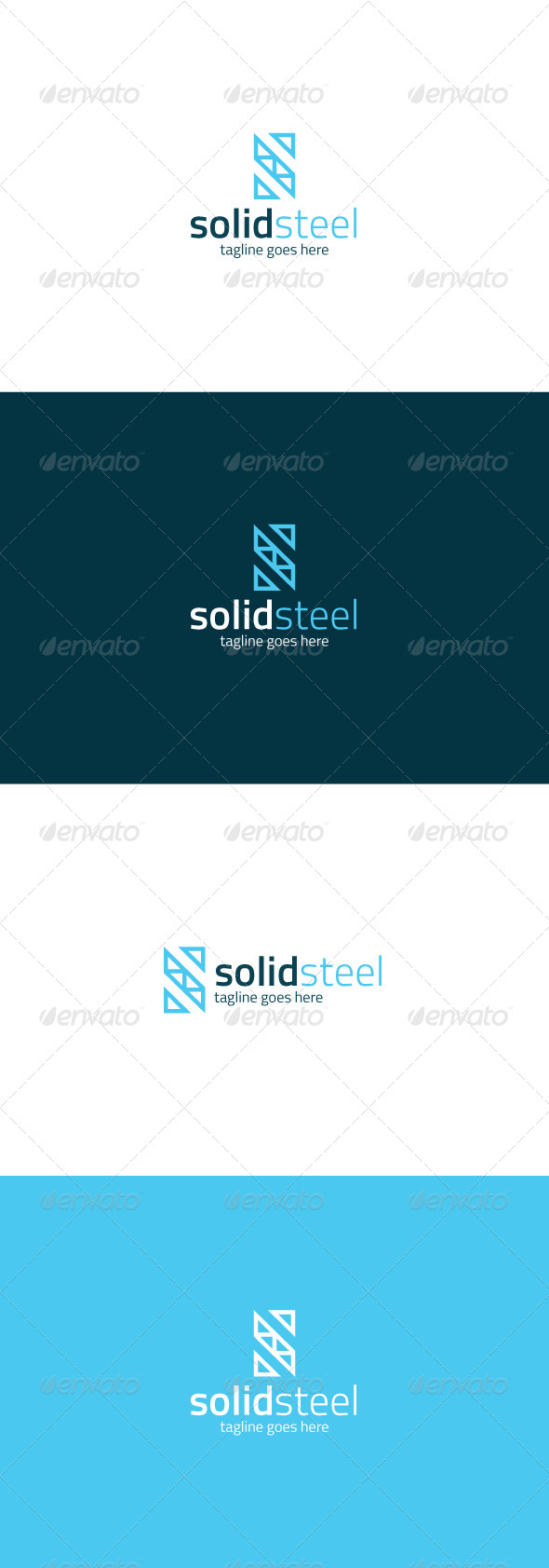 GraphicRiver Solid Steel Logo Letter S 8217186