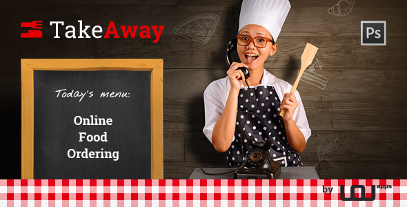 TakeAway - Online Food Ordering (PSD) - Restaurants & Cafes Entertainment