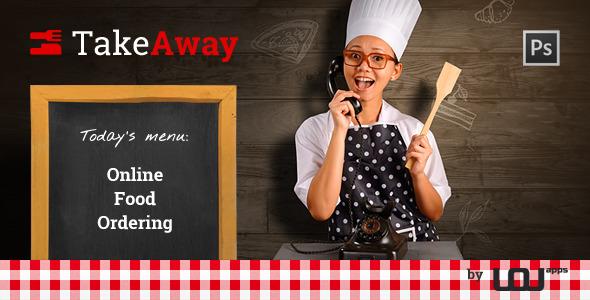 ThemeForest TakeAway Online Food Ordering PSD 8168643