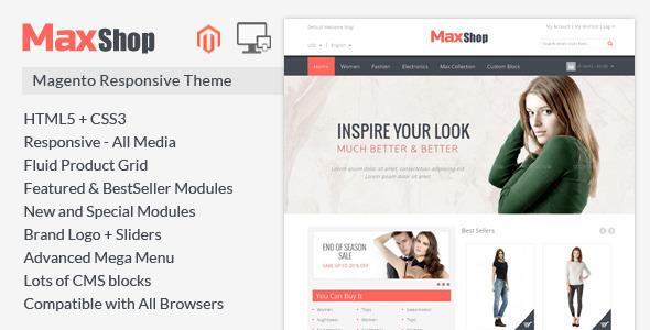 Maxshop - Magento Responsive Theme - Magento eCommerce