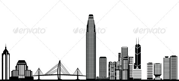 GraphicRiver Hong Kong Skyline 8207710