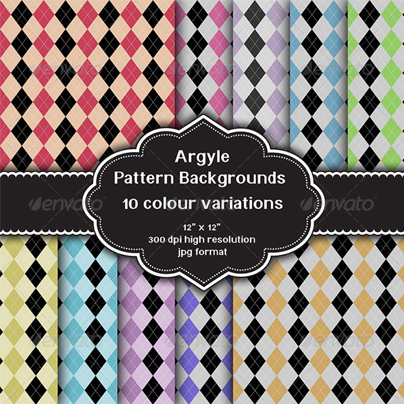 GraphicRiver Argyle Pattern Background Set 8217222