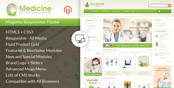 Medicine - Responsive Magento Theme