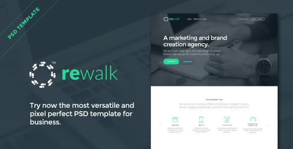 ThemeForest ReWalk Business PSD Template 8217265