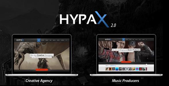 Hypax - One Page Portfolio - Portfolio Creative