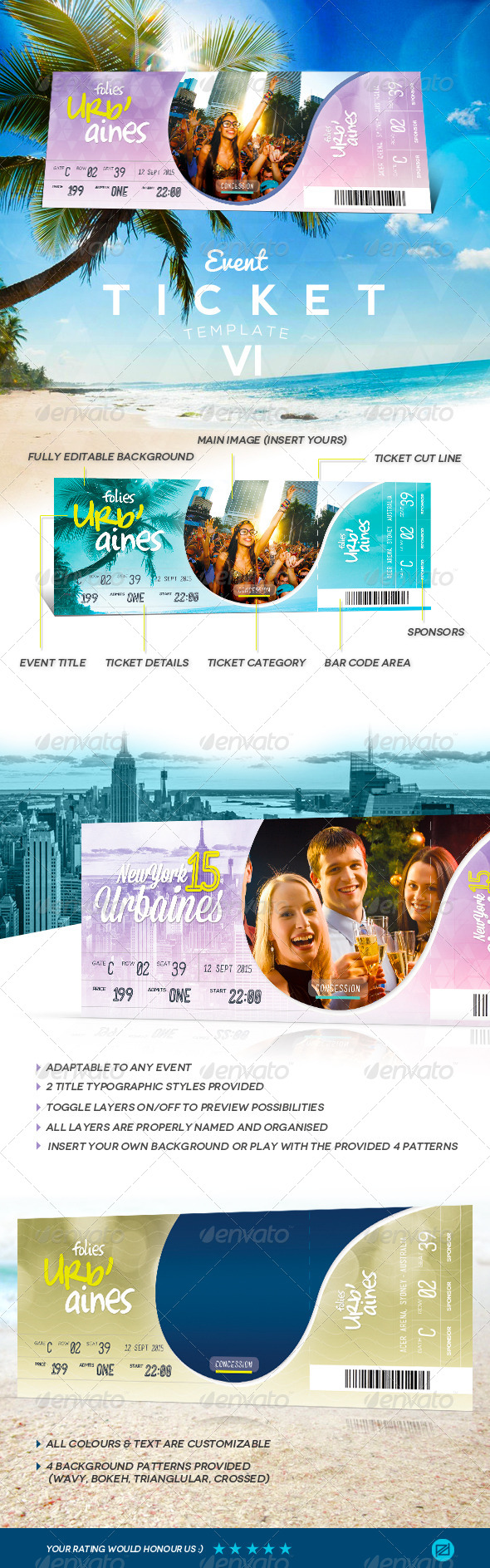 GraphicRiver Event Tickets Template VII 8203097