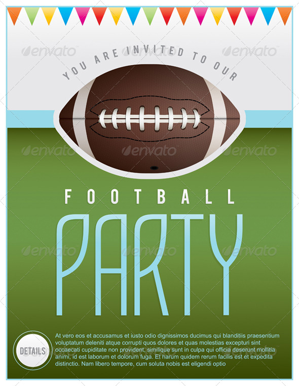 GraphicRiver Vector Football Party Flyer 8217318