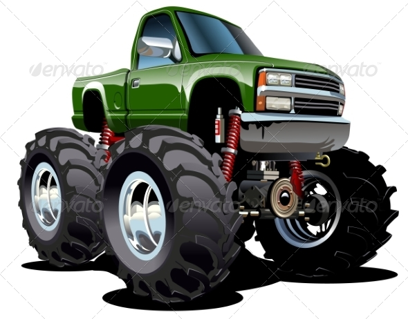 GraphicRiver Cartoon Monster Truck 8217341