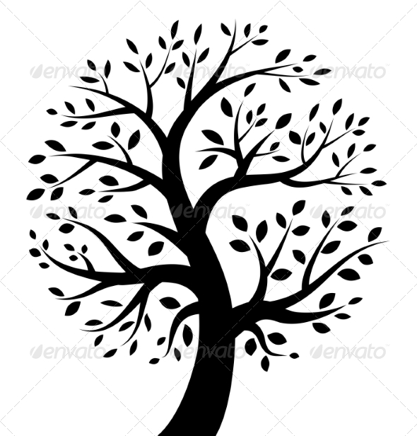 GraphicRiver Black Tree Icon 8217352