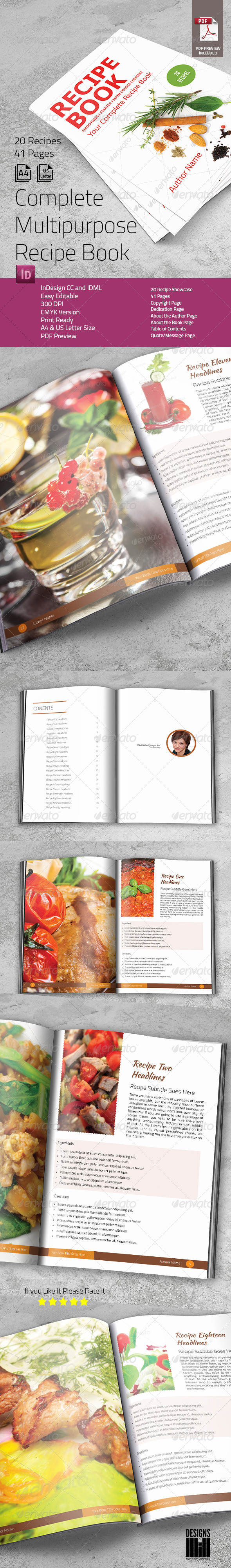 GraphicRiver Complete Recipe Book 8217432