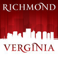Richmond Virginia city skyline silhouette red background - PhotoDune Item for Sale