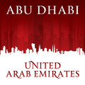 Abu Dhabi UAE city skyline silhouette red background - PhotoDune Item for Sale