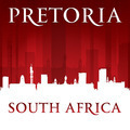 Pretoria South Africa city skyline silhouette red background - PhotoDune Item for Sale