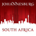 Johannesburg South Africa city skyline silhouette red background - PhotoDune Item for Sale