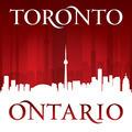 Toronto Ontario Canada city skyline silhouette red background - PhotoDune Item for Sale