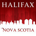 Halifax Nova Scotia Canada city skyline silhouette red background - PhotoDune Item for Sale
