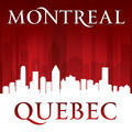 Montreal Quebec Canada city skyline silhouette red background - PhotoDune Item for Sale