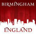 Birmingham England city skyline silhouette red background - PhotoDune Item for Sale