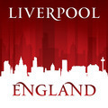 Liverpool England city skyline silhouette red background - PhotoDune Item for Sale