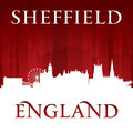 Sheffield England city skyline silhouette red background - PhotoDune Item for Sale
