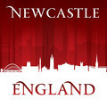 Newcastle England city skyline silhouette red background - PhotoDune Item for Sale