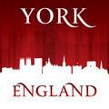 York England city skyline silhouette red background - PhotoDune Item for Sale